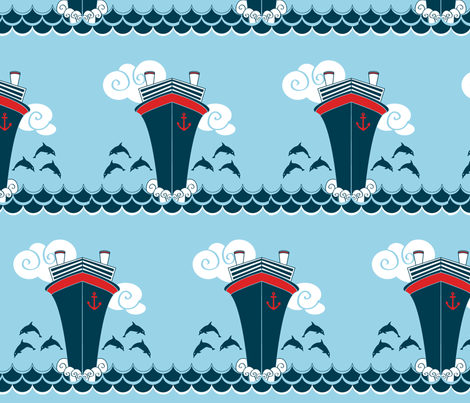 deco ship fabric by motyka on Spoonflower - custom fabric