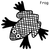 Frog wal decal