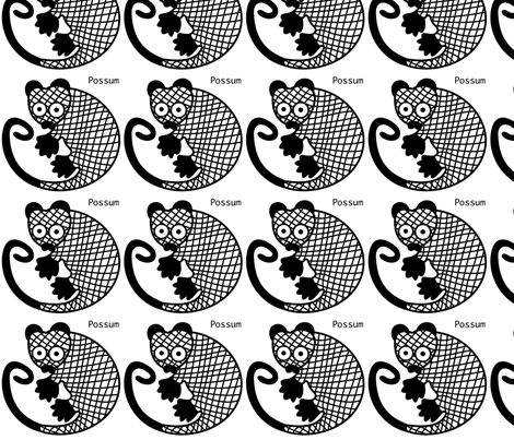 Possum wall decal fabric by yellowstudio on Spoonflower - custom fabric