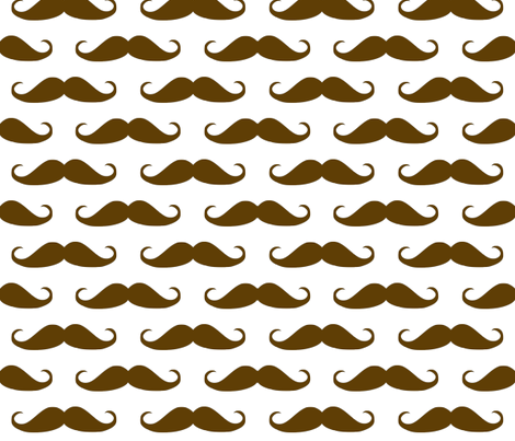 Brown Mustache fabric by peacefuldreams on Spoonflower - custom fabric