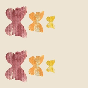 Triple Butterfly Stack Double Border Print