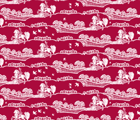 horseman red fabric by keweenawchris on Spoonflower - custom fabric