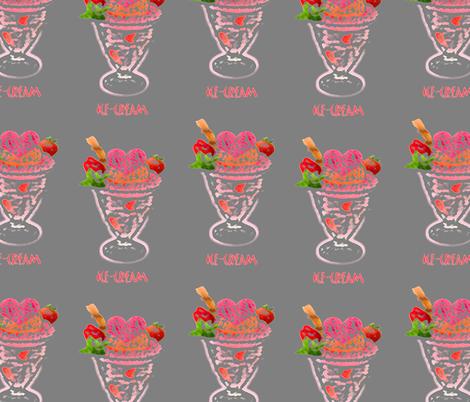 Coloured pencil Ice-cream Sundae fabric by fabricouture on Spoonflower - custom fabric