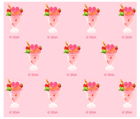 I Love Ice-Cream fabric by fabricouture on Spoonflower - custom fabric