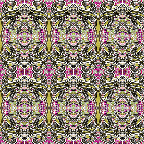 Christmas Eve 1903 (art nouveau orbs and leaves) fabric by edsel2084 on Spoonflower - custom fabric