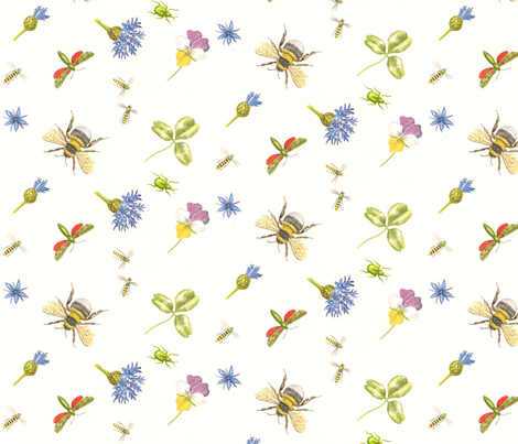 bugs_and_buds fabric by madsue1 on Spoonflower - custom fabric