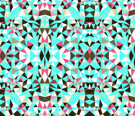 Cherry Mint Choco Tribal fabric by beththompsonart on Spoonflower - custom fabric