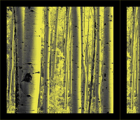 Aspen Forest Pillows fabric by thecalvarium on Spoonflower - custom fabric