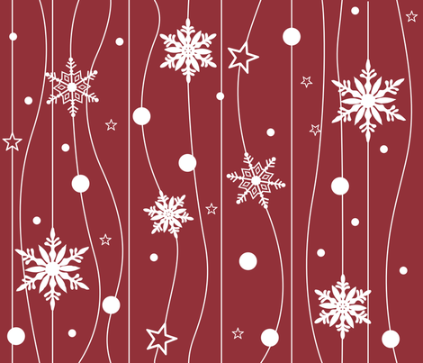Snowflake Trails fabric by illustrative_images on Spoonflower - custom fabric