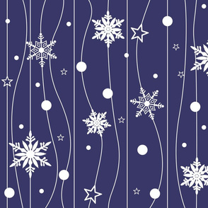 Snowflake Trail - Blue