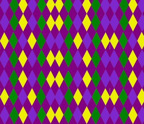 MARDI GRAS JESTER DIAMONDS fabric by bluevelvet on Spoonflower - custom fabric