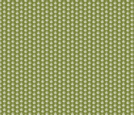 Green Agave Flower fabric by joyfulroots on Spoonflower - custom fabric