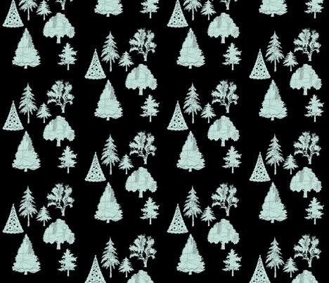Parisian Patterned Forest fabric by karenharveycox on Spoonflower - custom fabric