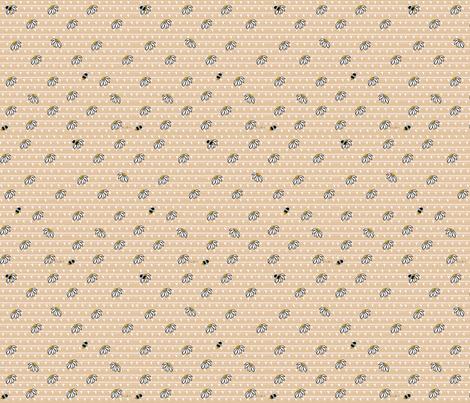 Bees & Daisies fabric by kiniart on Spoonflower - custom fabric