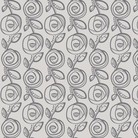 Deco Rose Grey fabric by johanna_chaytor on Spoonflower - custom fabric