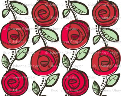 Deco Rose Red Tiny