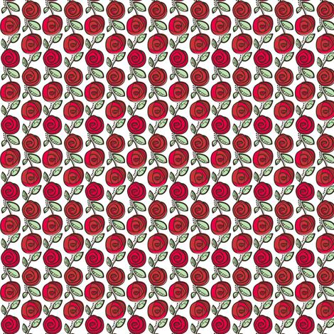 Deco Rose Red Tiny fabric by johanna_chaytor on Spoonflower - custom fabric