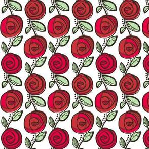Deco Rose Red