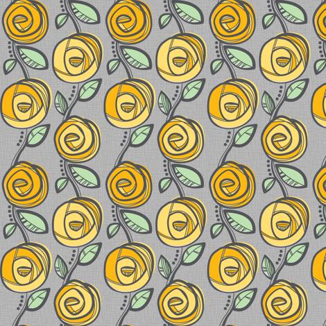 Deco Rose Yellow fabric by johanna_chaytor on Spoonflower - custom fabric