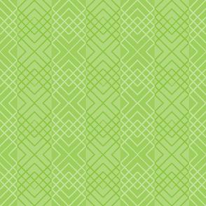 Cross Hatch - bamboo green