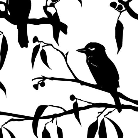 Kookaburra fabric by janelle_wooten on Spoonflower - custom fabric