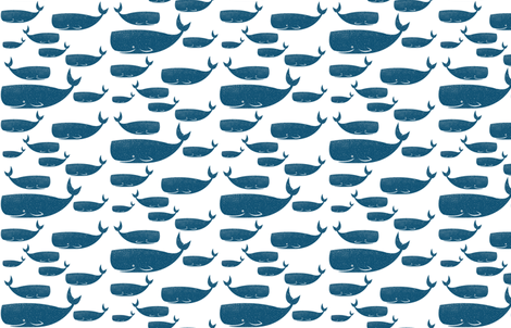 TPD Blue Whales  fabric by toniprimedesign on Spoonflower - custom fabric