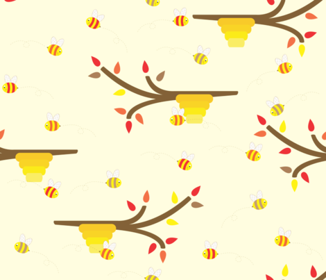 Autumn Buzzing fabric by illustrative_images on Spoonflower - custom fabric