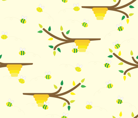 Spring Buzzing fabric by illustrative_images on Spoonflower - custom fabric