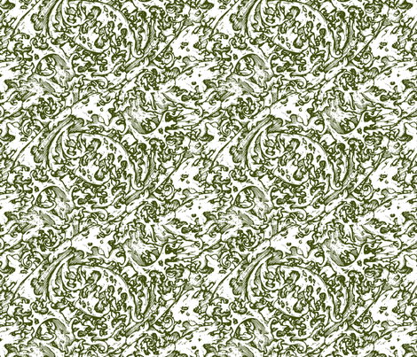 Renaissance green fabric by flyingfish on Spoonflower - custom fabric