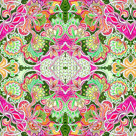 East Meets West fabric by edsel2084 on Spoonflower - custom fabric