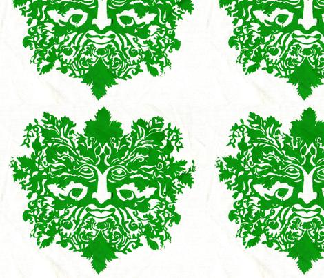 greenman-ed-ed fabric by cherb on Spoonflower - custom fabric