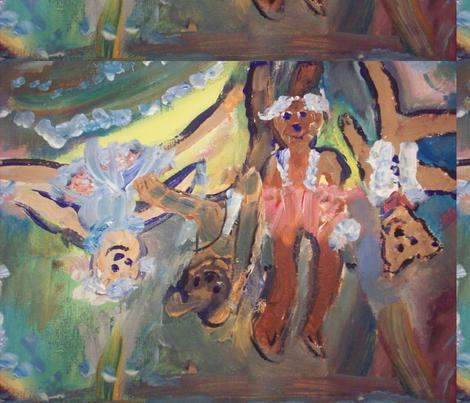 Teddies aerial ballet company fabric by myartself on Spoonflower - custom fabric
