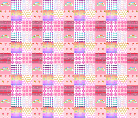 Patchwork_Cheat_for_girl fabric by fabricouture on Spoonflower - custom fabric
