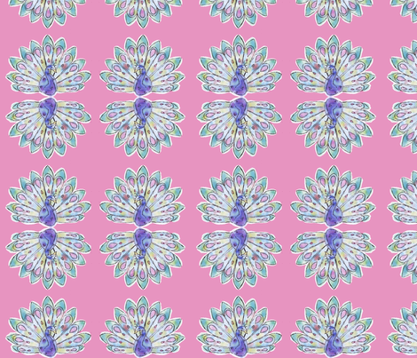 peacock fabric by lururu on Spoonflower - custom fabric