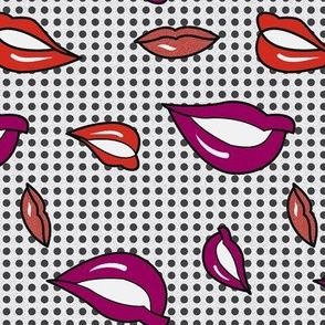 Pop art lips sober
