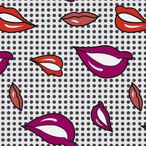 Pop art lips sober