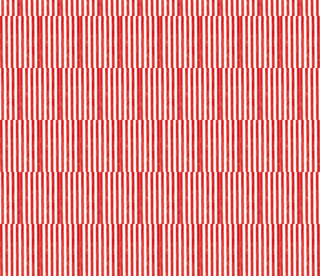 scuffed red stripe squares fabric by ali*b on Spoonflower - custom fabric