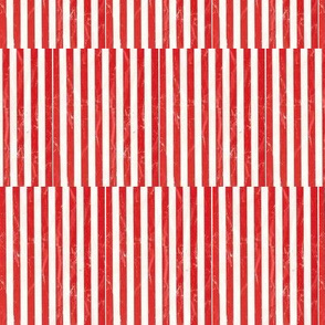 scuffed red stripe squares