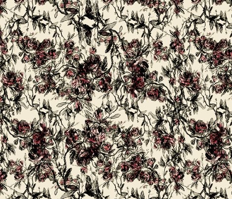 antique rose fabric by kociara on Spoonflower - custom fabric