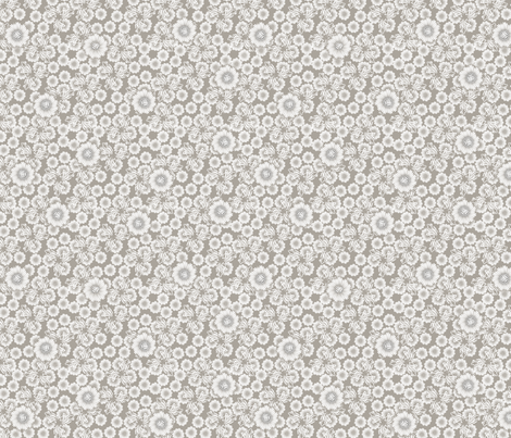 floral_paper_-_silver fabric by glimmericks on Spoonflower - custom fabric