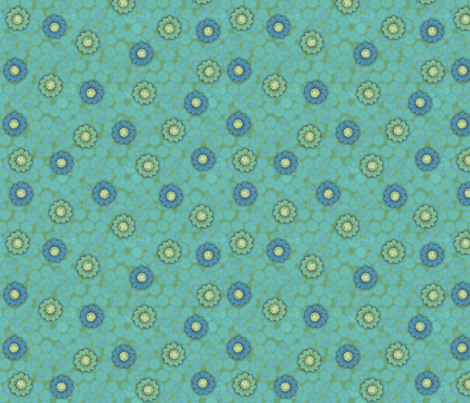 floral paper - blue_green fabric by glimmericks on Spoonflower - custom fabric