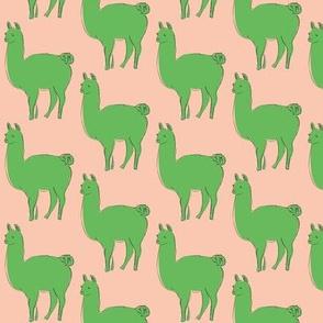 green llamas