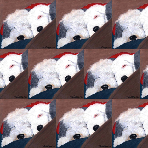 Old English Sheepdog-Brothers fabric by sheepiedoodles on Spoonflower - custom fabric
