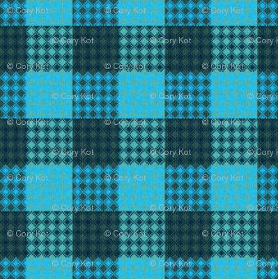 Palaka bluegreen plaid