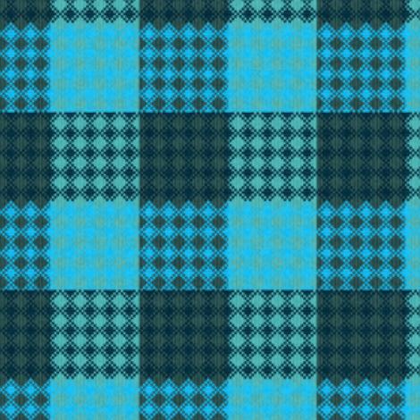 Palaka bluegreen plaid fabric by waiomaotiki on Spoonflower - custom fabric