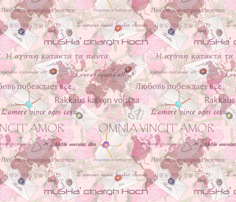 Love Conquers All fabric by glimmericks on Spoonflower - custom fabric