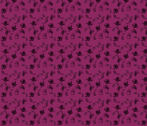 Berry Ditzy on Berry small © Gingezel™ 2013 fabric by gingezel on Spoonflower - custom fabric