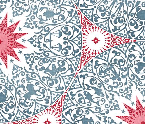 Chintz Zodiac fabric by spellstone on Spoonflower - custom fabric