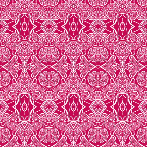 Tangled Up in Red fabric by edsel2084 on Spoonflower - custom fabric