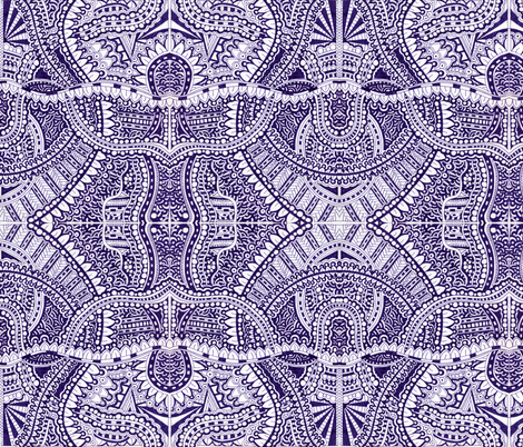 Tangle in Blue fabric by melodysircoulomb on Spoonflower - custom fabric